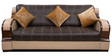 Blackberry Three Seater Sofa in Black & Coffee Colour by Home City