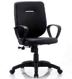 E-Buzz Mid Back Office Chair in Black by BlueBell Ergonomics