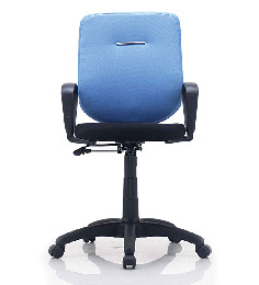 E-Buzz Mid Back Office Chair in Blue and Black Dual Tone Colour by BlueBell Ergonomics
