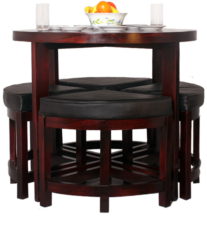 contemporary space saving dining set by mudra online dining sets