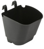 Black Vertical Hook Pot (Pack of 12) By Chhajed Garden