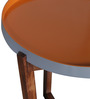 Bloom Solidwood Side Table in Honey & Orange Colour by HomeTown