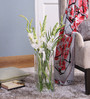 Bloomfields Clear Glass LSA Tall Square Base Vase