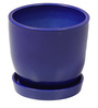 Blue Ceramic Table Top & Saucer By Decardo