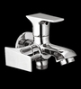 Blues Art Silver Brass 2 In 1 Bath Tap