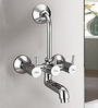 Blues Finns Silver Brass Wall Mixer with L Bend or Crutch without Over Head Shower