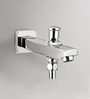 Blues Iris Tip Ton Silver Brass Spout Bath Tap