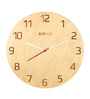 Bluewud Brown Birch Plywood 12 Inch Round Brian Laser Etched Wall Clock