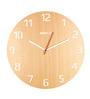 Bluewud Brown MDF 12 Inch Round Nicholas Precision Cut Wall Clock