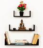 Bluewud Caesar Wenge MDF Wall Book Shelf