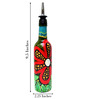 Bottles Not Empty Flower Multicolour 375 ML Oil Dispenser