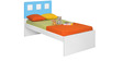 Boston Singe-Size Bed in Blue & White Colour by Alex Daisy