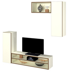 Bob Entertainment Unit in White Colour by Forzza