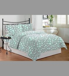 Bombay Dyeing Abstract Blue Marigold Double Bedsheet Set