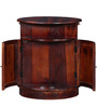 Alma Bar Cabinet in Honey Oak Finish by Woodsworth
