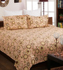 Bombay Dyeing Beige Cotton Queen Size Bedsheet - Set of 3
