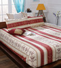 Bombay Dyeing Maroon 65%Poly 35%Cotton Queen Size Bedsheet - Set of 3
