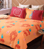 Bombay Dyeing Maroon Cotton Queen Size Bedsheet - Set of 3