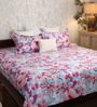 Bombay Dyeing Pink Cotton Queen Size Bedsheet - Set of 3