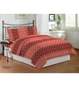 Bombay Dyeing Red Poly Cotton Queen Size Bedsheet - Set of 3