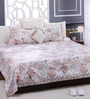 Bombay Dyeing White 100% Cotton Queen Size Bed Sheet - Set of 3