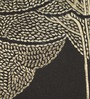 Bombay Mill Black & Gold Polyester 16 x 16 Inch Bodhi Tree Embroidery Cushion Cover