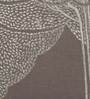 Bombay Mill Grey & Silver Cotton 16 x 16 Inch Bodhi Tree Embroidery Cushion Cover
