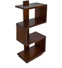 Book Rack Ladder in Brown Colour by Maruti Furniture