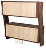 Book Shelf cum Display Unit in Versailles Finish by Arancia Mobel