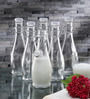 Borgonovo Indro Glass 355 ML Bottle With Transparent Lid - Set of 2