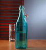 Bormioli Rocco Oxford Azzurro Glass 1 L  Blue Bottle
