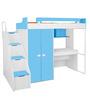 Boston Study Bunk Bed Set in Blue & White Colour by Alex Daisy