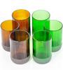 BOTL 300 ML Small Auburn & Small Green Drink Glasses - Set of 6