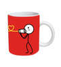 Boy Print Designed Coffee Mug by Orka