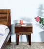 Boyd Bed Side Table in Provincial Teak Finish by Woodsworth