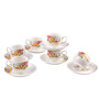 Bp Bharat Csk Molly Fine Bone China 150 ML Cup & Saucer - Set of 6