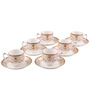Bp Bharat Csk Nusrat Fine Bone China 150 ML Cup & Saucer - Set of 6