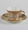 Bp Bharat George Bone China 160 ML Cup & Saucer - Set of 6