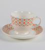 Bp Bharat Ngr Bone China 115 ML Coffee Cup & Saucer - Set of 6