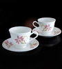 Bp Bharat Ngr Kali with Crystals Fine Bone China 150 ML Cup & Saucer - Set of 6