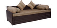 Brick Sofa Cum Bed in Brown Colour by Arra