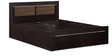 Bronze King Bed with Storage in Wenge & High Gloss Zebrano Finish by Debono