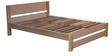 Brooke Queen Size Bed with Light Oak Finish by Forzza