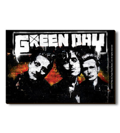 Bravado Multicolour Fibre Board Green Day Band Graffiti Fridge Magnet