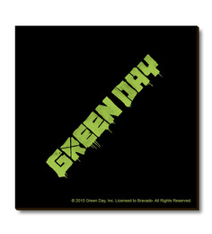 Bravado Multicolour Fibre Board Green Day Logo Fridge Magnet