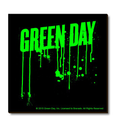 Bravado Multicolour Fibre Board Green Day Logo Graffiti Fridge Magnet