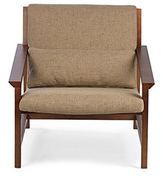 Bridgeport Arm Chair in Mushroom Beige Colour by HomeHQ
