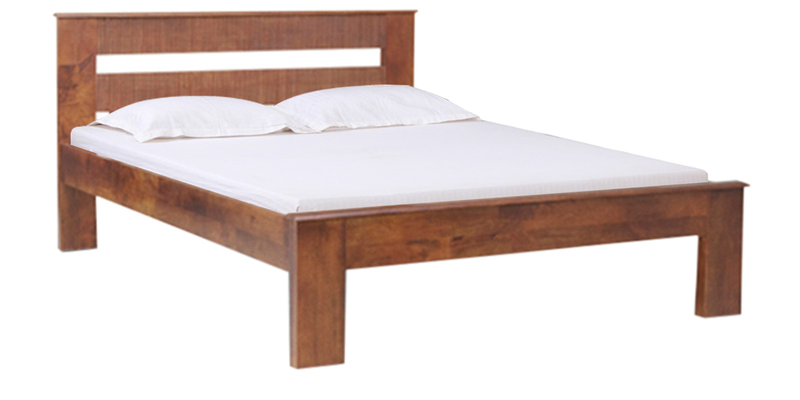 Brava Queen Size Bed in Warm Rich Finish by Inliving