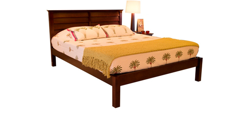 Bregenz Queen-Size Bed with Mahogany Finish by Forzza