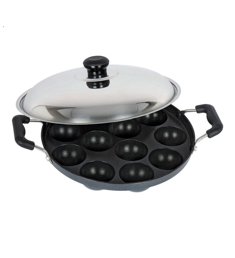 Bright Home Appliances Household Aluminum Idli and Appam Maker with Lid  available at Pepperfry for Rs.499
